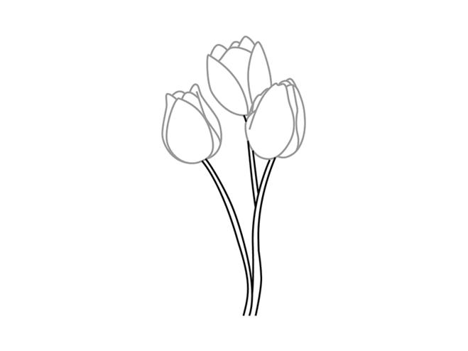 как нарисовать открытку с цветами поэтапно