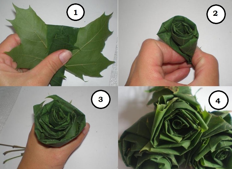 Красивые букеты из кленовых листьев — img 13