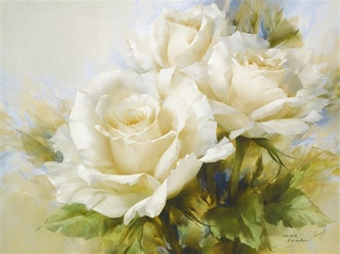 Bouquet of White Roses-Подарки