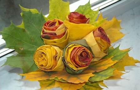 Как сделать своими руками цветы из кленовых листьев своими руками фото 502