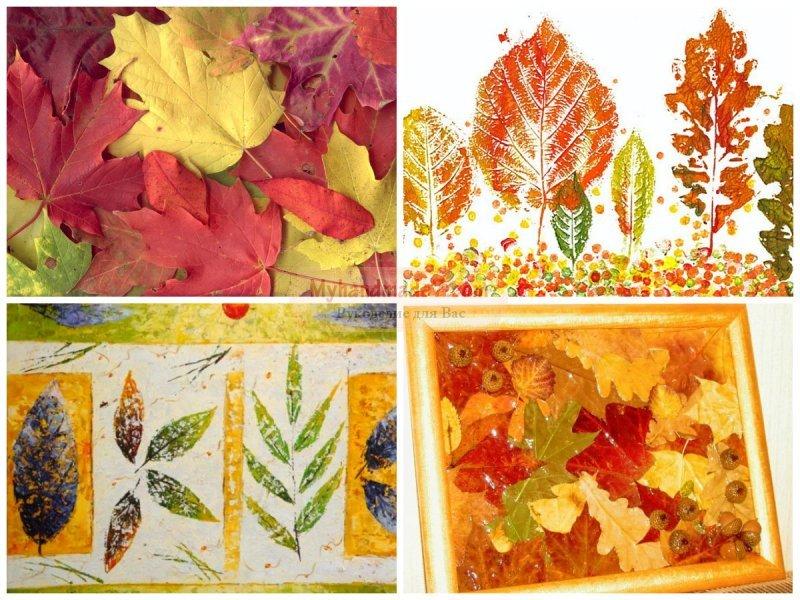 Осенняя открытка своими руками для детей из природного материала