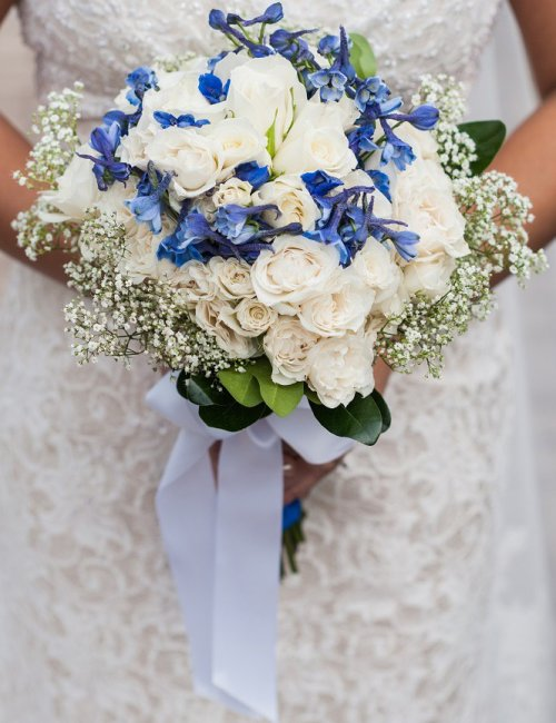 Blue-and-White-Wedding-Bouquet