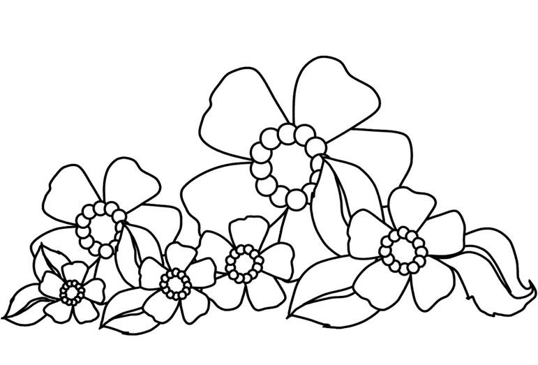 Осенний букет раскраски для детей. Раскраски цветы ...