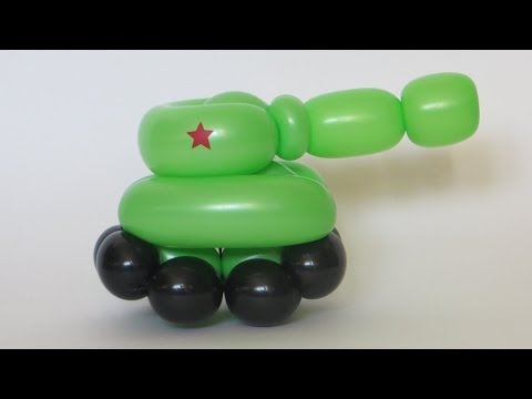 Tank of two balloons - twisting tutorial (Subtitles)